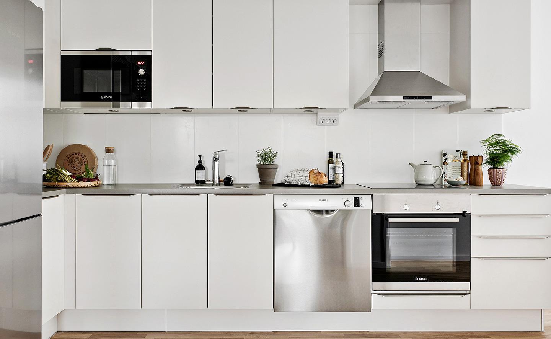 Snyggt kök i en nyproducerad hyresrätt hos Balder