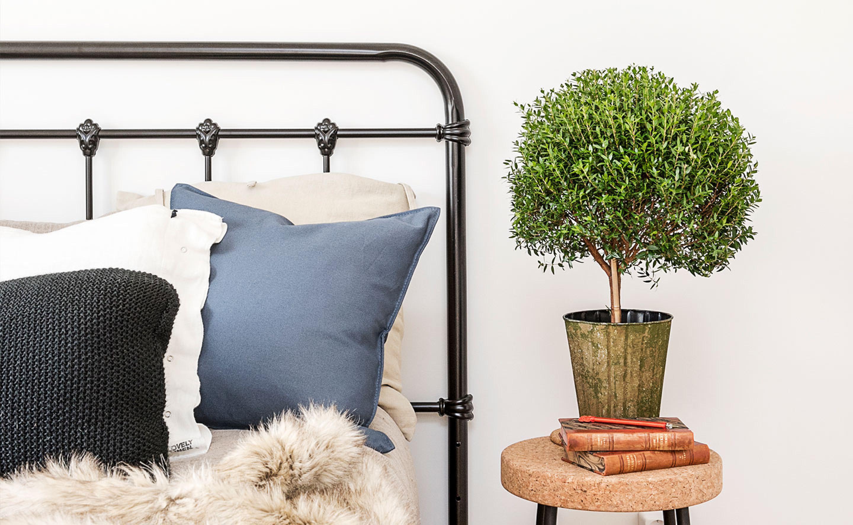 detaljbild i sovrum i en nyproducerad hyresrätt hos Balder
