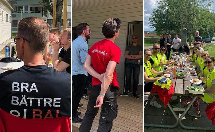 Städdag hos våra hyresgäster på Långströms i Göteborg