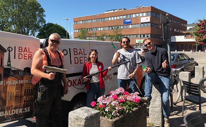 Balder-personal inför städdagen i Stockholm