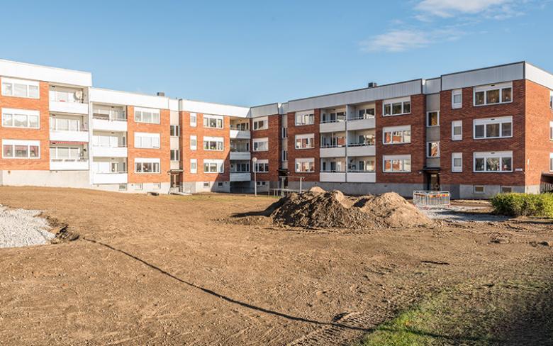 Balder gör om utemiljön i Sundsvall