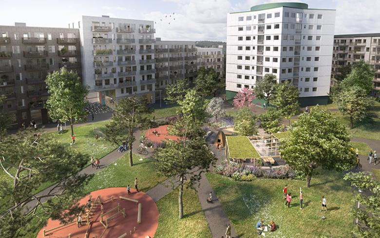 Frölunda Park i Göteborg